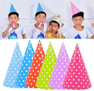 Pack of 12 Birthday Party Cap Birthday Hat Cardboard Kid Decoration Birthday Cap (4651711430741)