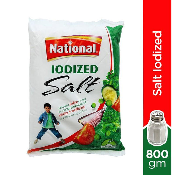 National Iodized Table Salt 800 GM (4736222658645)