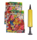 Pack of 100 Latex Party Balloons,Air Pump & Stars (4624250962005)