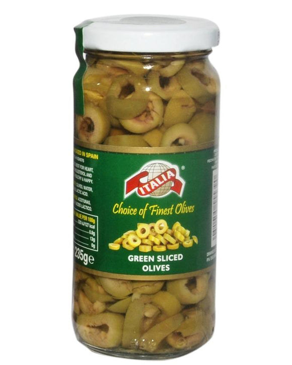 Italia Green Sliced Olives 450gm
