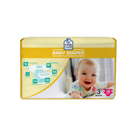 Fine Dreaming Happy Baby Diaper Medium 36 PCS (4735332515925)