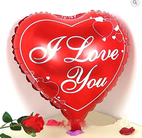 I Love You Printed Heart Foil Balloon 18