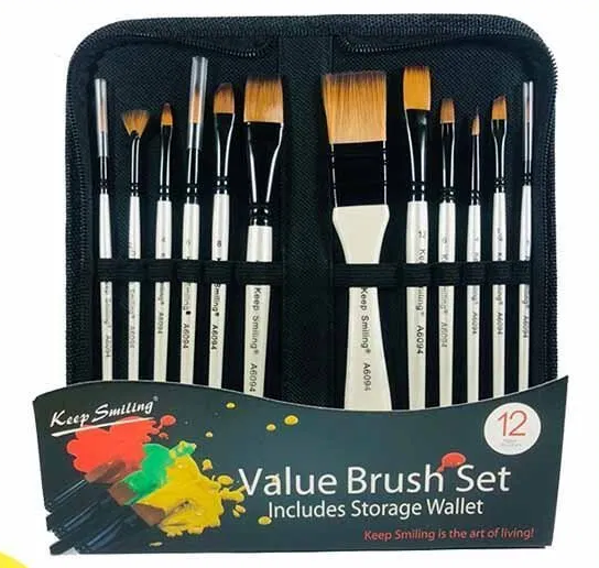 12pcs Value Artist Paint Brushes Set