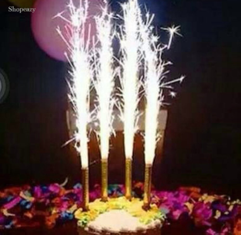 Pack Of 3 New Year Birthday Party Sparkling & Fountain Candles (4624221503573)