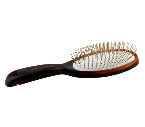 Hair Brush, Brown/White, Oval Shape, 6S33TTH (4824487264341)