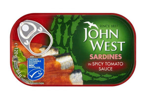 John West Sardines In Tomato Sauce 120ml