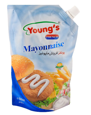 Young's Mayonnaise 500ml Pouch (4736284950613)