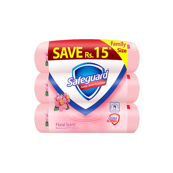 Safeguard - Safeguard Floral Bundle - 145gm Pack of 3 (4611977773141)