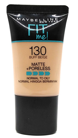 Maybelline Fit Me Matte + Poreless Liquid Foundation, 130, Buff Beige, 18ml (IMPORTED) (4832207863893)