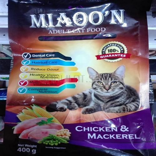 MIAOO'N Dry Cat Food Chicken & Mackerel 400G (4817709203541)