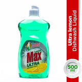 Lemon Max Ultra Lemon Liquid Dishwash Green 500ml