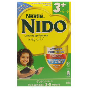 Nestle Nido Milk Pdr 3+ 800g Box (4742624084053)