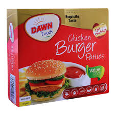 Dawn Chicken Burger Patties 16s (4611847258197)