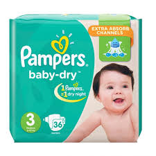 PAMPERS Jumbo Pack MED 3 - 36 Diapers