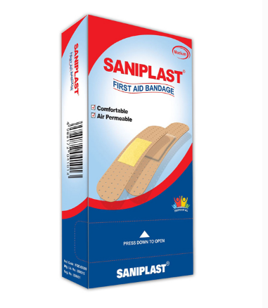 Saniplast Bandage Family Pack 100 Strips