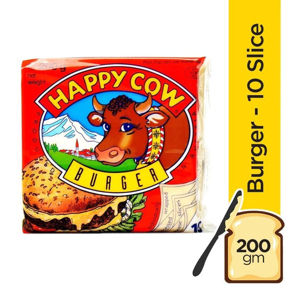 Happy Cow Slice Cheese Burger 10 Slices 200gm (4611856040021)