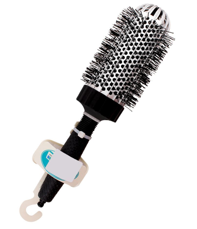 Mira Hair Brush, Round Shape, Black Color, No. 394 (4824479301717)