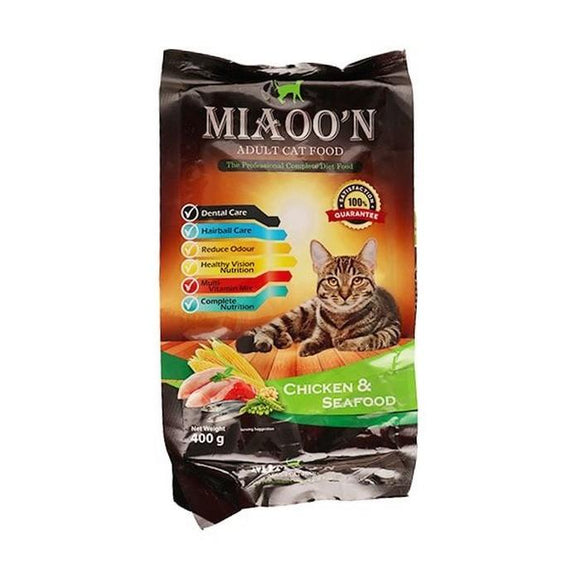 MIAOO'N Dry Cat Food Chicken & Seafood 400G (4817709957205)