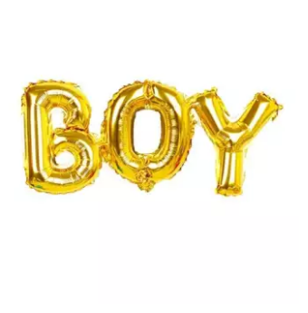 Boy Balloons Golden for Decoration and Baby Shower Celebration (4625686626389)