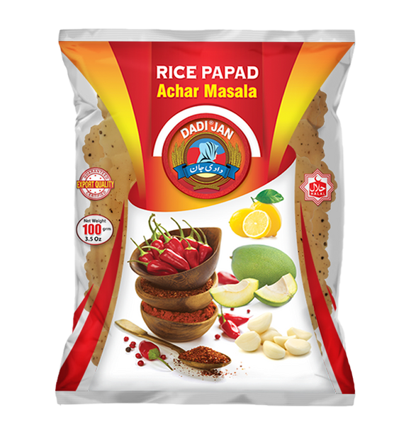 Dadi Jan Rice Papad Achar Masala Papad 100gm (4655432433749)