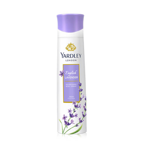 Yardley English Lavender Deodorant Body Spray, For Women, 150ml (4725518762069)
