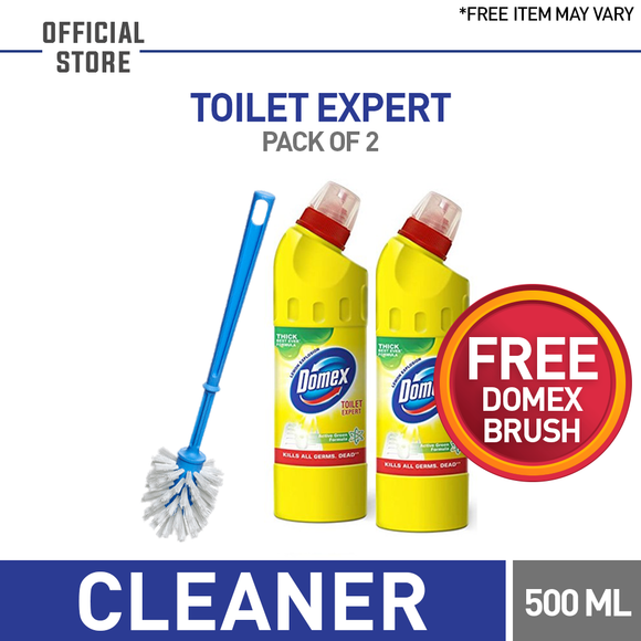 Free Domex Brush With Pack of 2 Domex Yellow 500 ML (4827653636181)