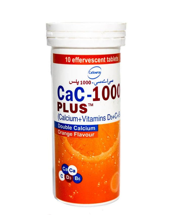 CalSource CaC-1000 Plus Double Calcium Orange Flavour 10 Tablets (4651627282517)