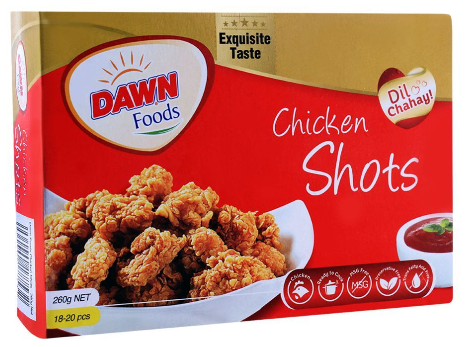 Dawn Chicken Shots, 18-20 Pieces 260g (4611844669525)