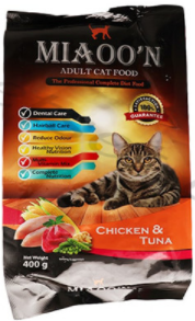 MIAOO'N Dry Cat Food Chicken & Tuna 400G (4817710219349)