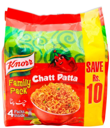 Knorr Noodles Chatt Patta, 66g, Family Pack, 4 Pieces