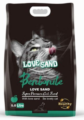 Love Sand Bentonite Cat Litter APPLE 5ltr (4817745412181)