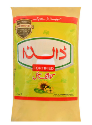 Dalda Fortified Cooking Oil Pouch 1 Litre (4804284710997)