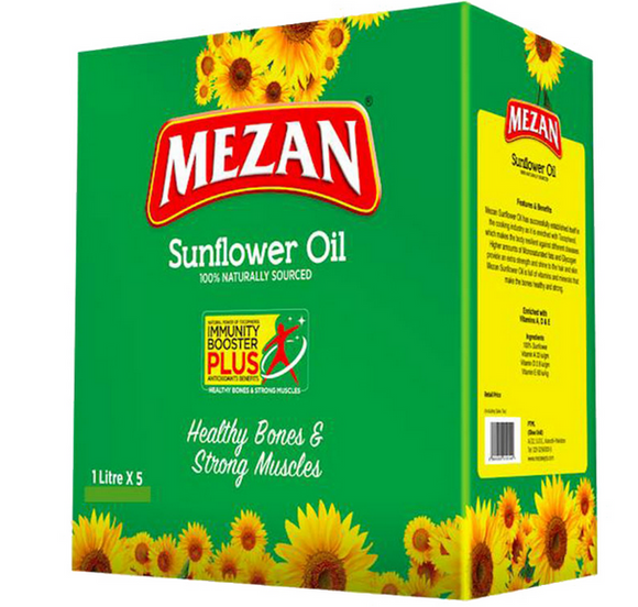 Mezan Sun Flower Pouch Oil Tail 1 x 5Ltr
