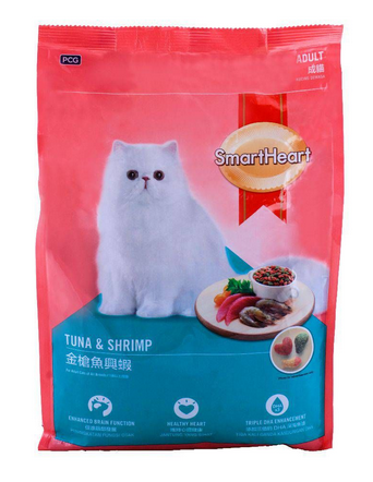 SmartHeart Adult Tuna & Shrimp Cat Food 1.2 KG (4808994259029)