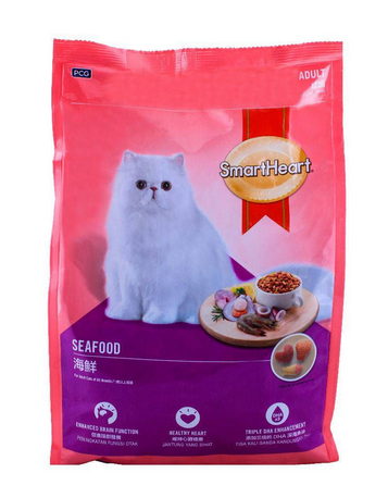SmartHeart Adult Seafood Cat Food 1.2 KG (4808995668053)