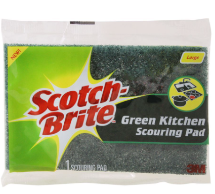 Scotch Brite Green Kitchen Scouring Pad, Large (4808585347157)