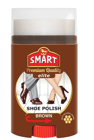 Smart Elite Shoe Polish, Brown, 60ml (4805911609429)