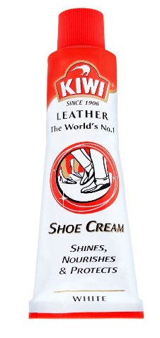 Kiwi Shoe Cream Tube, White, 45ml (4805912526933)