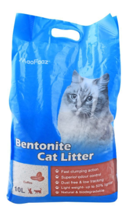 MaoFaaz Bentonite Cat Litter, Coffee, 10 Litres (4809007169621)