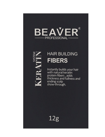 Beaver Professional Keratin System Hair Building Fibers Black 12g