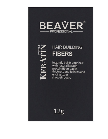 Beaver Professional Keratin System Hair Building Fibers Light Brown 12g