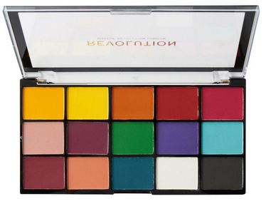 Makeup Revolution Reloaded Eyeshadow Palette, Marvellous Mattes, 15 Shades