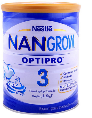 Nestle - Nestle NanGrow Optipro 3 Growing-up Formula (1 Year Onwards) - 900gm (4781115605077)