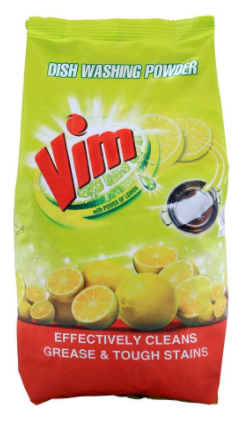 Vim Dish Washing Powder, With Lemon, Bag, 900g (4807107084373)