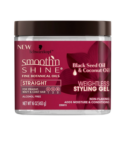 Schwarzkopf Smooth'n Shine Weightless Styling Gel, Black See