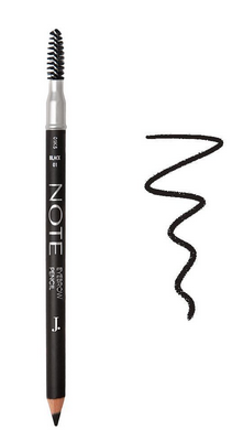 J. Note Eyebrow Pencil 01, Black