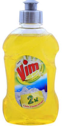 Vim Lemon Dishwash Active Gel 250ml (4807108198485)