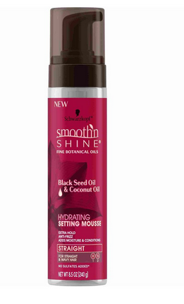 Schwarzkopf Smooth'n Shine Hydrating Setting Mousse, Black