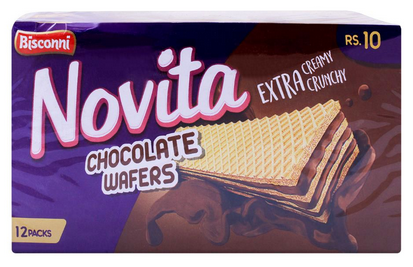 Bisconni Novita Chocolate Wafers, 12 Packs