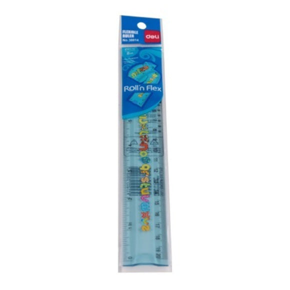 Flexible Ruler 8″ Inch 20″ cm 38014  Blue 24Pcs/Box